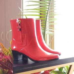 Kate Spade Red Rain Boots